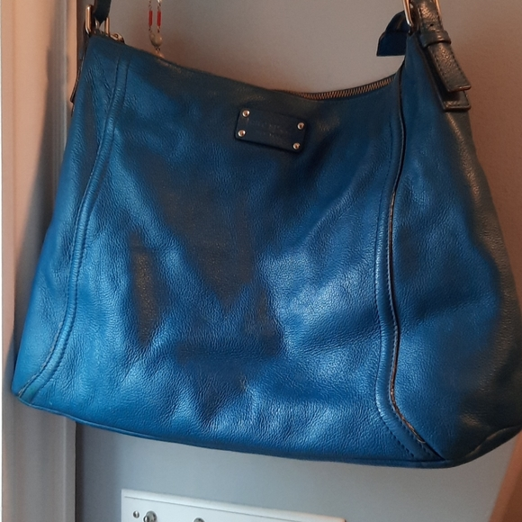 Kate Spade large blue leather tote